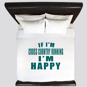 If I Am Cross Country Running King Duvet
