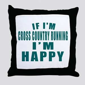 If I Am Cross Country Running Throw Pillow
