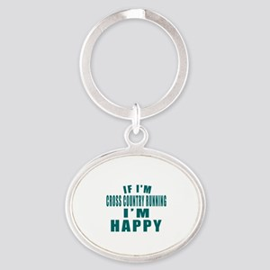 If I Am Cross Country Running Oval Keychain