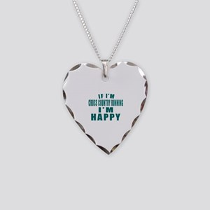If I Am Cross Country Running Necklace Heart Charm