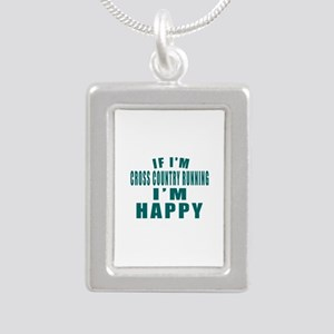 If I Am Cross Country Ru Silver Portrait Necklace
