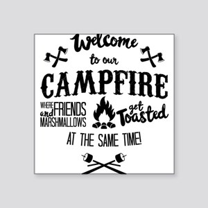Getting Wasted at Campfire Sticker