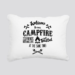 Getting Wasted at Campfire Rectangular Canvas Pill