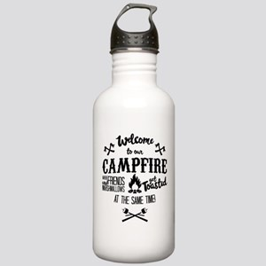 Getting Wasted at Campfire Water Bottle