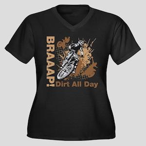 Motocross Dirt Bike Plus Size T-Shirt