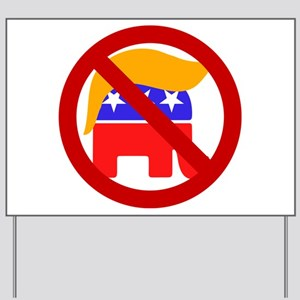 No Trump Yard Sign