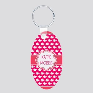 Whale Gift Monogrammed Hot Aluminum Oval Keychain