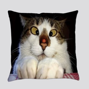 Funny Crossed Eyed Cat And Everyday Pillow