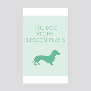 The Dog Ate My Lessons Plans - Dachshund Sticker