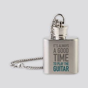 Play Guitar Flask Necklace