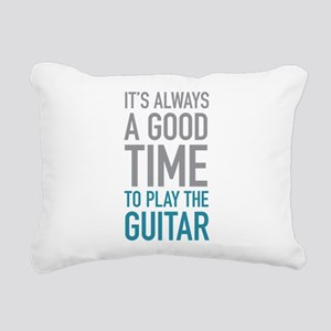 Play Guitar Rectangular Canvas Pillow