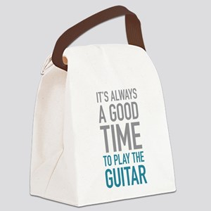 Play Guitar Canvas Lunch Bag