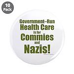 "Govt Health 3.5"" Button (10 Pack)"