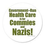 Govt Health Round Car Magnet