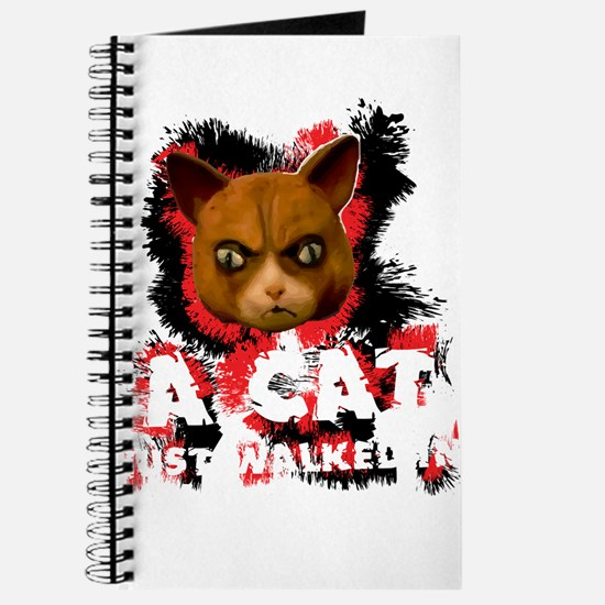 Mad Dogs walked Cat Shirt Journal