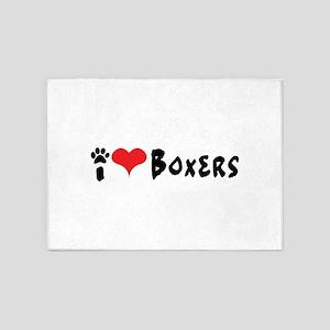 I heart Boxers. 5'x7'Area Rug