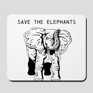 Save the Elephants Mousepad