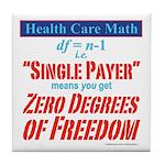 Health Math Tile Coaster