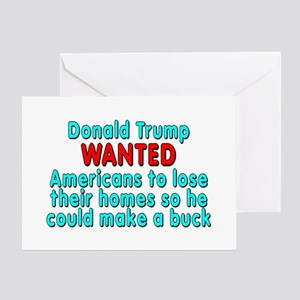 Trump WANTED Americans - Greeting Card