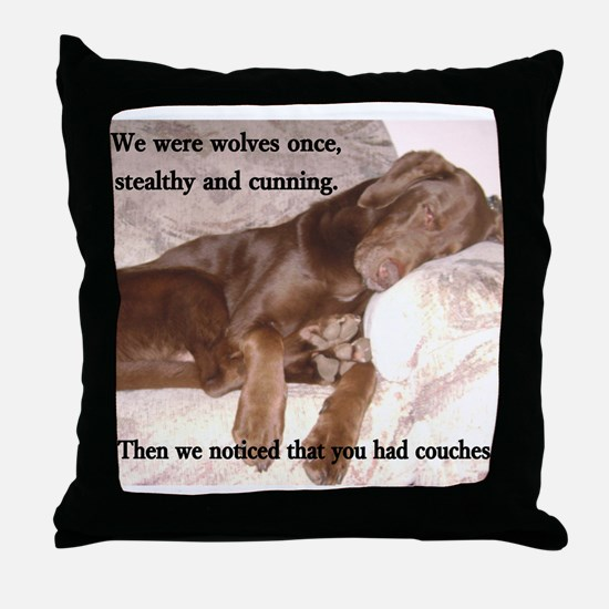 We Were Wolves Throw Pillow