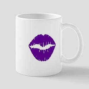 Purple Violet Lips Mugs