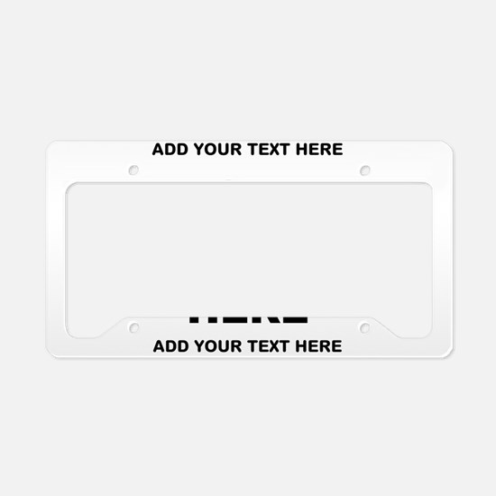 Make Personalized Gifts License Plate Holder