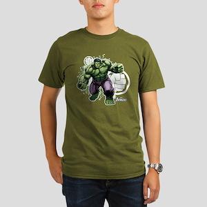 Avengers Hulk Fists Organic Men's T-Shirt (dark)