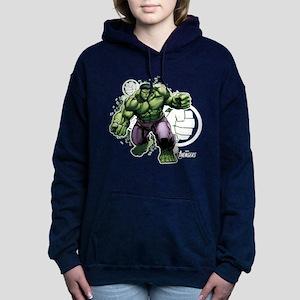 Avengers Hulk Fists Women's Hooded Sweatshirt