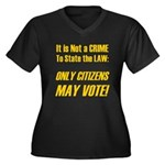 Citizens Women's Plus Size V-Neck Dark T-Shirt