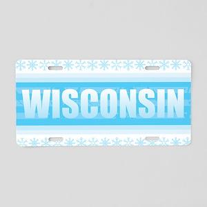 Wisconsin Snow Aluminum License Plate