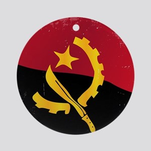 Angola Flag Round Ornament