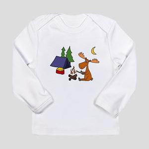 Funny Moose Camping Long Sleeve T-Shirt