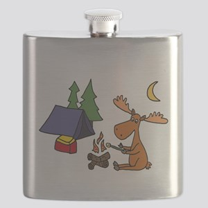 Funny Moose Camping Flask