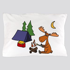 Funny Moose Camping Pillow Case