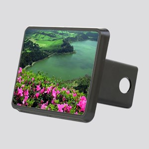 Lake in Azores Rectangular Hitch Cover