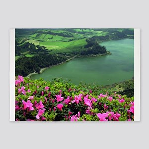 Lake in Azores 5'x7'Area Rug