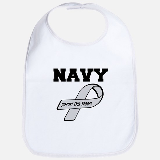 Navy Support Our Troops Bib