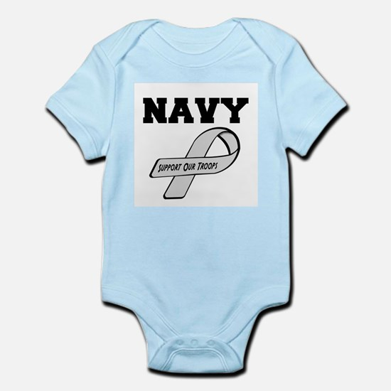 Navy Support Our Troops Body Suit