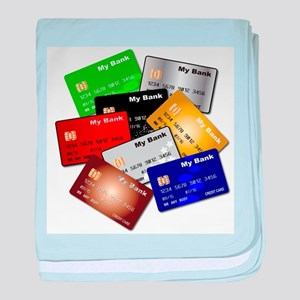Debit and Credit Cards baby blanket