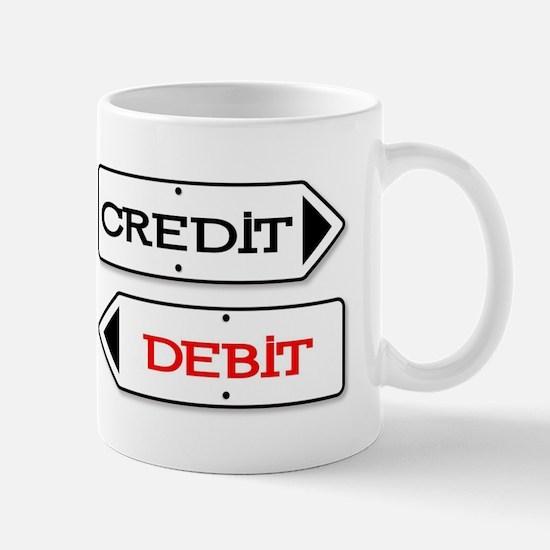Credit Debit Arrows Mugs