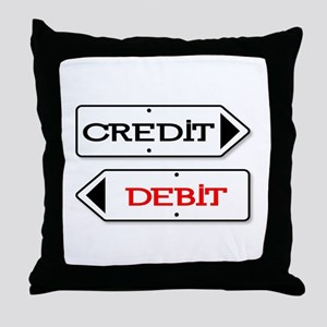 Credit Debit Arrows Throw Pillow