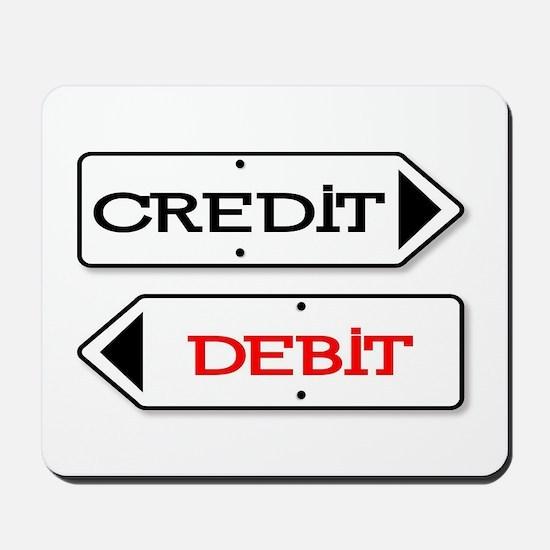 Credit Debit Arrows Mousepad