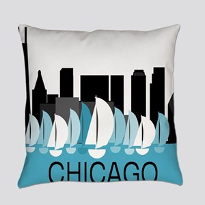 Chicago Sailing Everyday Pillow
