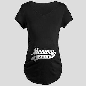 Mommy 2017 Maternity Dark T-Shirt