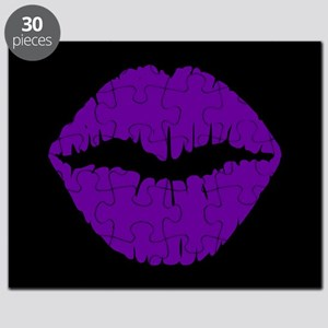 Black and Violet Pursed Lips Puzzle