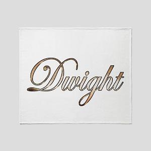 Gold Dwight Throw Blanket
