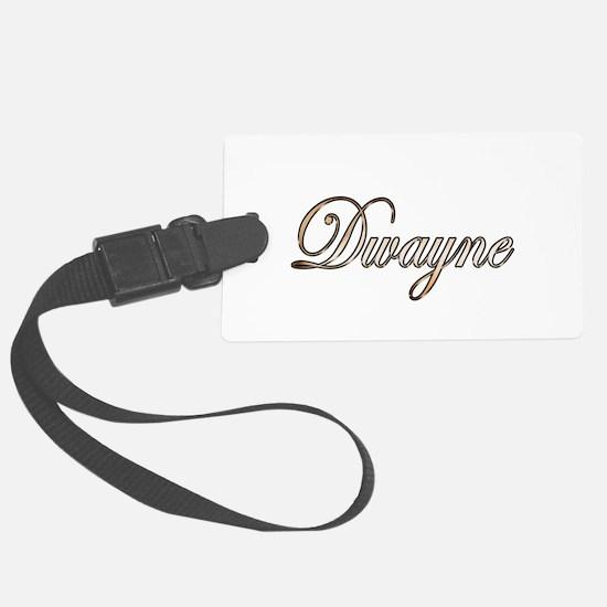 Gold Dwayne Luggage Tag