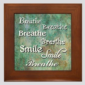 Breathe Smile Breathe Meme Framed Tile