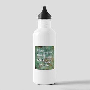 Breathe Smile Breathe Meme Water Bottle