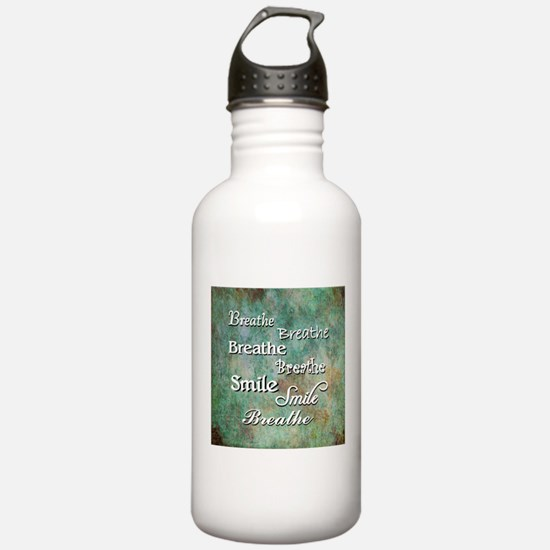Breathe Smile Breathe Meme Water Bottle
